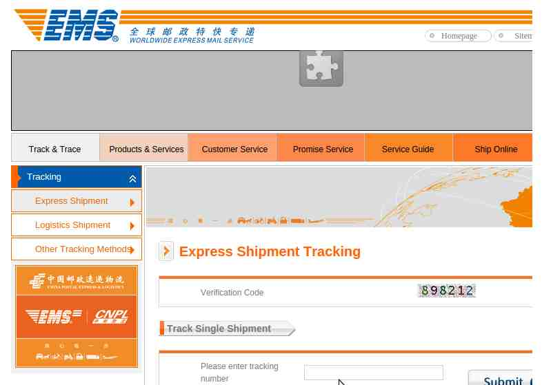 ems china post group tracking