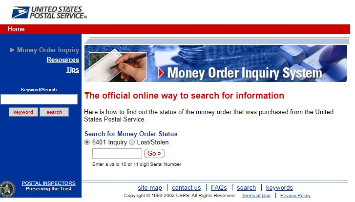 how to check if a usps money order has been cashed