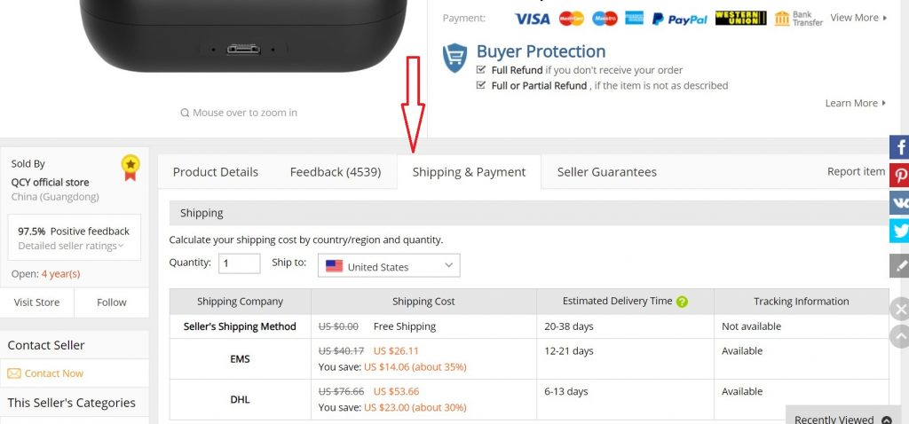 where to check aliexpress standard shipping to uk usa canada delivery status